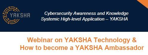 Webinar on YAKSHA Technology and How to become a YAKSHA Ambassador (Dec 17, 2018)