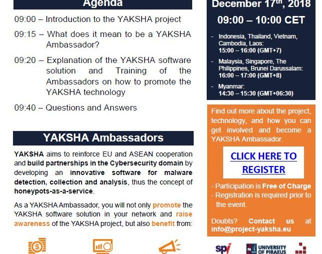 1st Webinar on YAKSHA Technology and How to become a YAKSHA Ambassador held on the 17th of December!