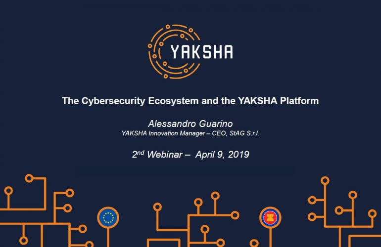 Second YAKSHA Ambassador Training:    The Cybersecurity Ecosystem and the YAKSHA Platform